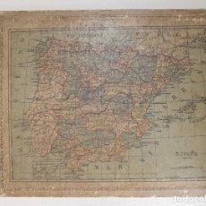 Mapas contemporáneos: MAPA DE ESCUELA COLEGIO ALABERN ESPAÑA SIGLO XIX. Lote 238869450