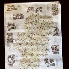 Mapas contemporáneos: MAPA DE MONUMENTOS DE ARAGÓN, PRECIOSO.. Lote 239966780