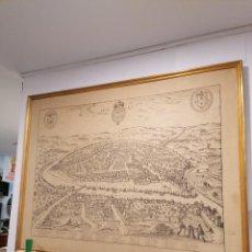 Mapas contemporáneos: MAPA DE SEVILLA EN EL SIGLO XVI. GRAN FORMATO EN CANVAS. 145X125CM APROX.. Lote 218583232