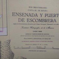 Cartes géographiques contemporaines: CARTA NAÚTICA ENSENADA Y PUERTO DE ESCOMBRERA N 3612. Lote 240264460
