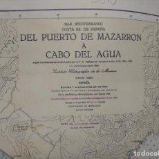Cartes géographiques contemporaines: CARTA NAÚTICA MAPA MAZARRÓN Y CABO DE AGUA. Lote 240271120