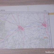 Cartes géographiques contemporaines: MAPA TOPOGRÁFICO DE ESPAÑA - PLANO - MADRIDEJO - TOLEDO - HOJA 712 - 50 X 70 CM. Lote 240682115