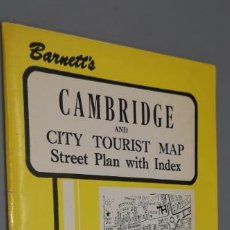Mapas contemporáneos: BARNETT'S CAMBRIDGE AND CITY TOURIST MAP. STREET PLAN WITH INDEX. AÑO DE PUBLICACIÓN: 1970. Lote 240729720