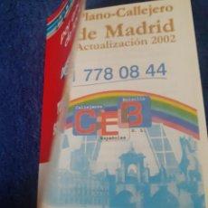 Mapas contemporáneos: CALLEJERO DE MADRID DE BOLSILLO DEL AÑO 2002. Lote 241438535