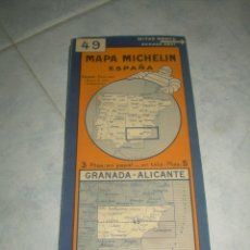 Mapas contemporáneos: ANTIGUO MAPA MICHELIN ESPAÑA Nº 49 GRANADA-ALICANTE. DESPLEGABLE. VER FOTOS LEER DESCRIP. CARRETERAS. Lote 241725920