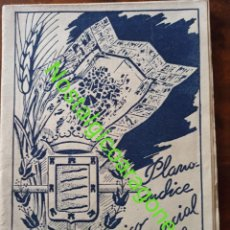 Cartes géographiques contemporaines: MAPA GUÍA PLANO HISTÓRICO COMERCIAL VALLADOLID 1945 PUBLICIDAD HIJOS DE CASARIEGO. Lote 241930650