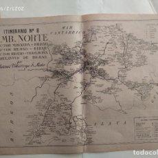 Cartes géographiques contemporaines: MAPA CORREOS - ITINERARIO N. 8 - BILBAO, EIBAR, TRANSLAVIÑA, MIRANDA - VER FOTOS. Lote 241946325