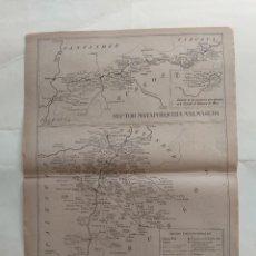Cartes géographiques contemporaines: MAPA CORREOS - ITINERARIO N. 10 - PALENCIA, MATAPORQUERA, VALMASEDA, SANTANDER, VER FOTOS. Lote 241966895