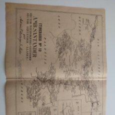 Cartes géographiques contemporaines: MAPA CORREOS - ITINERARIO N. 12 - SANTANDER, MATAPORQUERA, LLANES, TORRELAVEGA, COMILLAS, PEDREÑA,. Lote 241967590