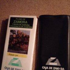 Mapas contemporáneos: PLANO DE ZAMORA Y MAPA DE ESPAÑA Y ZAMORA CAJA ZAMORA. Lote 242051890