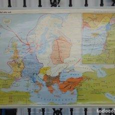 Mapas contemporáneos: MAPA A 2 CARAS EUROPA DEL AÑO MIL Y LAS DESMEMBRACIÓN DE AL ANDALUS S XI EDITORIAL VICENS VIVES. Lote 242347490