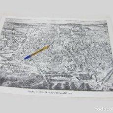 Mapas contemporáneos: 22 PLANOS DE MADRID A VISTA DE PÁJARO DE 1873. IMPRESIÓN DE LOS AÑOS 80 O FACSIMIL. Lote 242853565