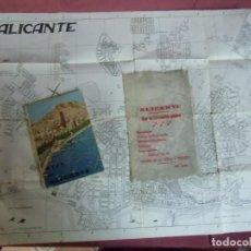 Cartes géographiques contemporaines: GUIA DE ALICANTE.PLANO Y FUNDA ORIGINAL.1968.1ª EDICION.. Lote 242880255