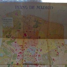 Mappe contemporanee: ENORME MAPA Y PLANO HISTORICO DE MADRID 1910 INSTITUTO GEOGRAFICO ESTADISTICO EXCELENTE CONSERVACION. Lote 243082805