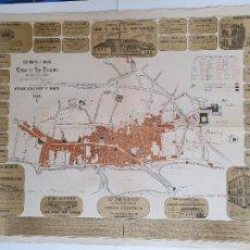Cartes géographiques contemporaines: SAN FERNANDO CÁDIZ - PLANO INDUSTRIAL Y COMERCIAL 1884 - J.CALVET - 92,5 X 68 CM.. Lote 243540360