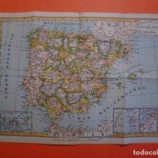 Mapas contemporáneos: MAPAS PALUZIE IMPRENTA ELZEVIRIANA Y LIBRRIA CAMI S.A. ESPAÑA Y PORTUGAL CON POSESIONES EN AFRICA. Lote 243675620