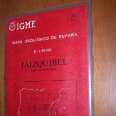 Mapas contemporáneos: JAIZQUIBEL / MAPA GEOLÓGICO DE ESPAÑA. Lote 244695725