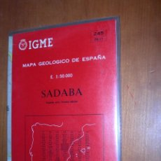 Mapas contemporáneos: SADABA / MAPA GEOLÓGICO DE ESPAÑA. Lote 244696040