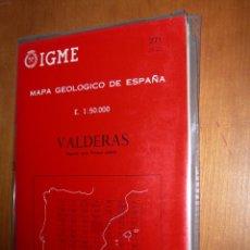Mapas contemporáneos: VALDERAS / MAPA GEOLÓGICO DE ESPAÑA. Lote 244696470