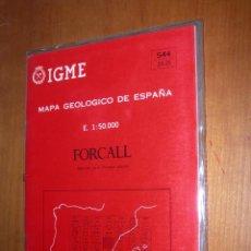 Mapas contemporáneos: FORCALL / MAPA GEOLÓGICO DE ESPAÑA. Lote 244696905