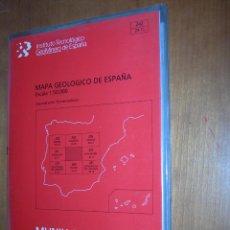 Mapas contemporáneos: SALVATIERRA / MAPA GEOLÓGICO DE ESPAÑA. Lote 244697870
