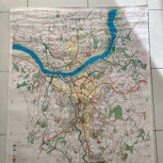Mapas contemporáneos: PLANO DE OURENSE CIUDAD 1991 , 130 X 90 CM. Lote 244701290