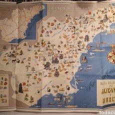 Mapas contemporáneos: MAPA ECONOMICO DE ALICANTE Y MURCIA. BANCO DE VIZCAYA. GRIJELMO BILBAO. AÑOS 60.. Lote 244702525