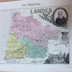 Mapas contemporáneos: MAPA DE FRANCIA SIGLO XIX 32CMX22CM. Lote 244711390
