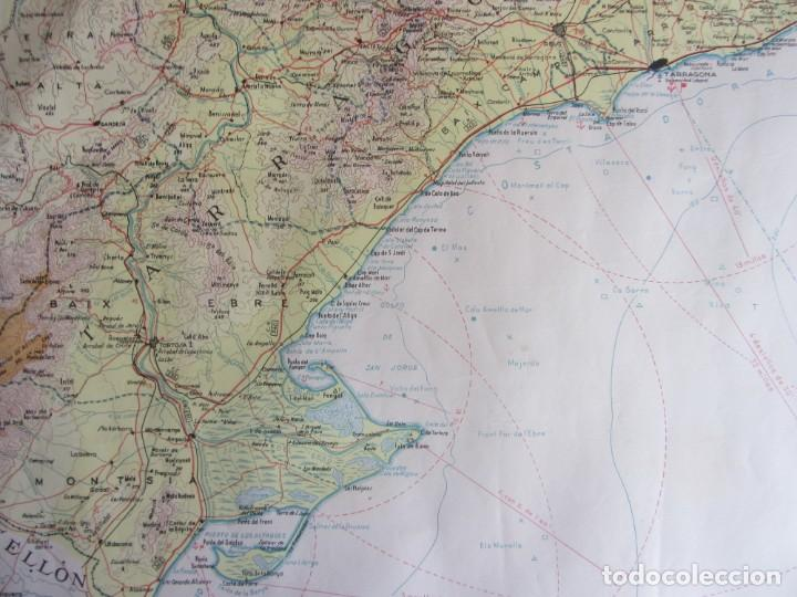 Mapas contemporáneos: MAPA TOPOGRÁFICO DE CATALUNYA. ED. ALPINA. ESCALA 1:250.000 1964? ZONA DEL EBRO - Foto 2 - 245276460
