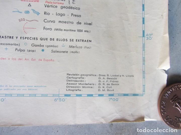 Mapas contemporáneos: MAPA TOPOGRÁFICO DE CATALUNYA. ED. ALPINA. ESCALA 1:250.000 1964? ZONA DEL EBRO - Foto 7 - 245276460
