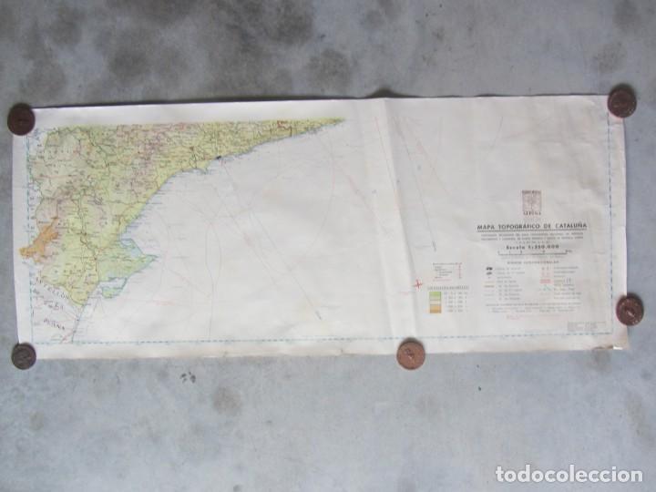 Mapas contemporáneos: MAPA TOPOGRÁFICO DE CATALUNYA. ED. ALPINA. ESCALA 1:250.000 1964? ZONA DEL EBRO - Foto 8 - 245276460