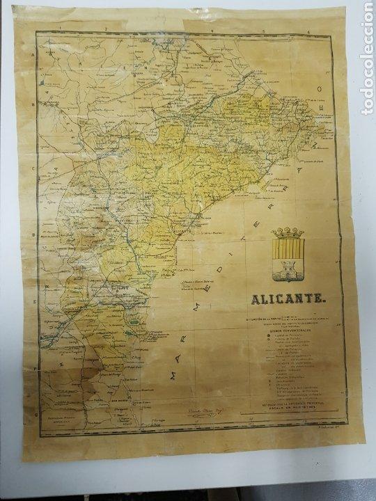 MAPA DE ALICANTE ,BENITO CHIAN ,EDITORIAL MARTIN (Coleccionismo - Mapas - Mapas actuales (desde siglo XIX))