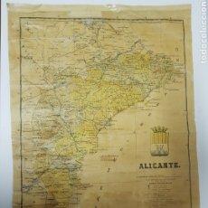 Mapas contemporáneos: MAPA DE ALICANTE ,BENITO CHIAN ,EDITORIAL MARTIN. Lote 245297045