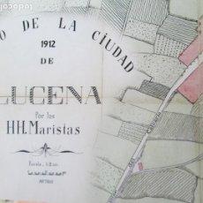 Mapas contemporáneos: PLANO DE LA CIUDAD DE LUCENA - AÑO 1912 - HH. MARISTAS - MIDE 65X47 CM.. Lote 245380715