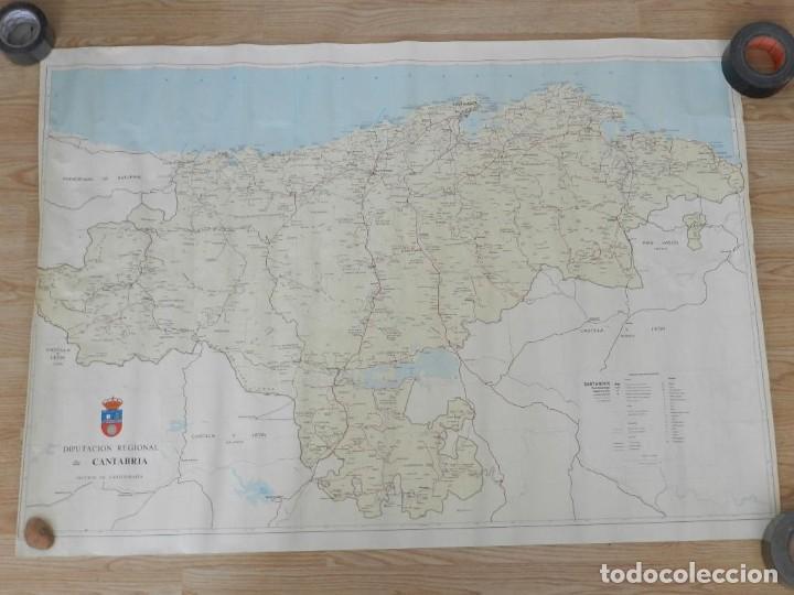Mapas contemporáneos: Mapa CANTABRIA sección cartografía Diputación regional escala 1:100.000 GRAN TAMAÑO - Foto 6 - 245389630
