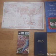 Mapas contemporáneos: MAPAS ANTIGUOS DEL GRAN BILBAO, SANTURTZI Y GETXO (LOTE). Lote 245392675