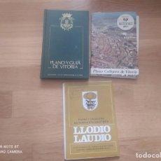 Mapas contemporáneos: MAPAS ANTIGUOS DE VITORIA Y LLODIO (LOTE). Lote 245395550