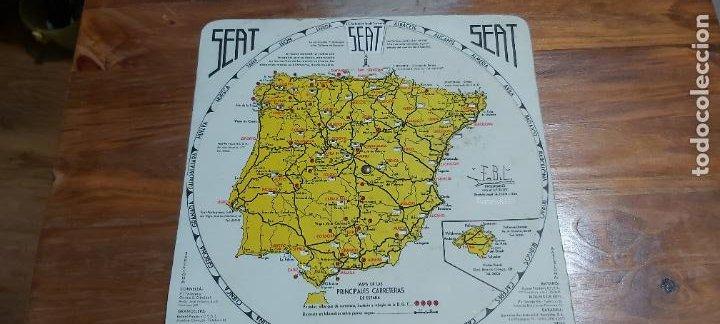 Mapas contemporáneos: Disco kilometrico seat mapa de las principales carreteras de españa año 1958 - Foto 2 - 245772245
