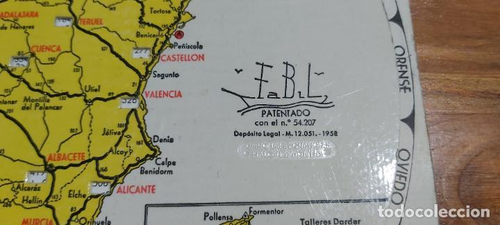 Mapas contemporáneos: Disco kilometrico seat mapa de las principales carreteras de españa año 1958 - Foto 4 - 245772245