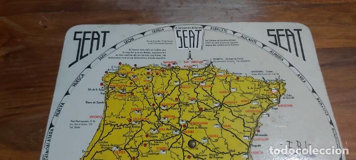 Mapas contemporáneos: Disco kilometrico seat mapa de las principales carreteras de españa año 1958 - Foto 6 - 245772245