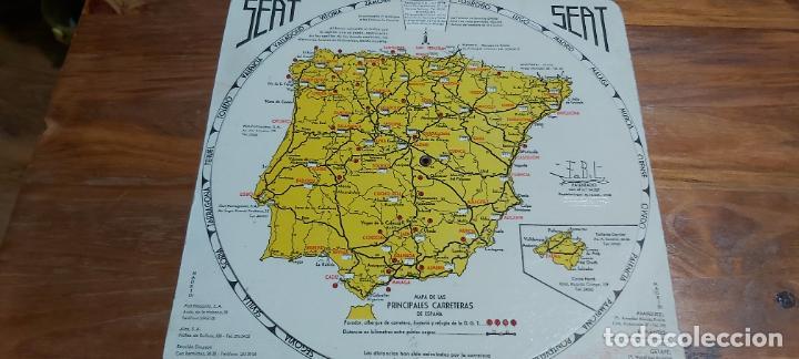 DISCO KILOMETRICO SEAT MAPA DE LAS PRINCIPALES CARRETERAS DE ESPAÑA AÑO 1958 (Coleccionismo - Mapas - Mapas actuales (desde siglo XIX))