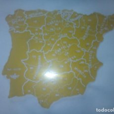 Mapas contemporáneos: MAPA DE ESPAÑA O PLANTILLA DE PLASTICO ( REGIONES). Lote 245961305