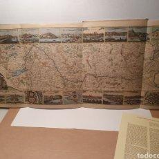 Mapas contemporáneos: MAPA DEL RIN. REPRODUCCION FACSIMIL. JOHANN CRISTOPH LOCHNER EL JOVEN. CALENDARIO KALLE 1967.. Lote 245996050