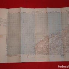 Mapas contemporáneos: MAPA SAN MIGUEL IBIZA ISLAS BALEARES 1963 SERVICIO GEOGRÁFICO DEL EJÉRCITO. Lote 247685020