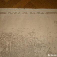 Mapas contemporáneos: MAPA PLANO DE MADRID EDICIÓN 1849 REPRODUCCIÓN PAPEL MEDIDA 91X68.5 CM. PLANO OFICIAL DE LA VILLA. Lote 248064630