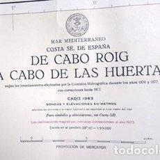 Mapas contemporáneos: DE CABO ROIG A CABO DE LAS HUERTAS. CARTA DE NAVEGAR, 1973. Lote 252384595