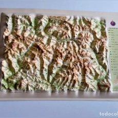 Mappe contemporanee: MAPA EN RELIEVE VALLE DE ARAN - 33 X 24.CM PLASTICO. Lote 252393560