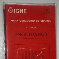 Mapas contemporáneos: MAPA GEOLÓGICO DE ESPAÑA: ENGUIDANOS Nº 664 (25-26) ESCALA 1:50000 IGME MADRID 1976. Lote 252698550