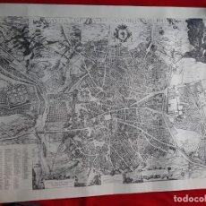 Mappe contemporanee: ENORME MAPA PLANO VINTAGE FACSIMIL MADRID TEXEIRA 90 X 65. Lote 252832425