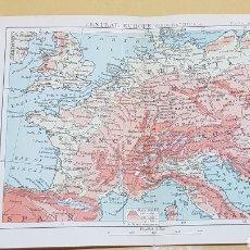 Mapas contemporáneos: CENTRAL EUROPE MAPA N°11 POCKET ATLAS 16 X 12 CENTÍMETROS. Lote 252934395